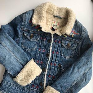 Gap || Girls Sherpa Lined Denim Jacket